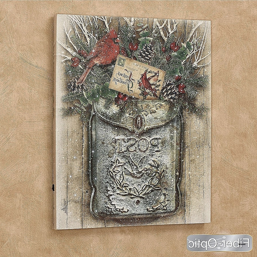 Pine Cone Wall Art Best Of Vintage Holiday Mailbox Lighted Canvas Pertaining To Latest Pine Cone Wall Art (View 14 of 15)