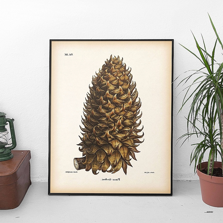 Pine Cone Wall Art New Pine Cone Print Winter Print Pinecone Print In Well Known Pine Cone Wall Art (View 2 of 15)