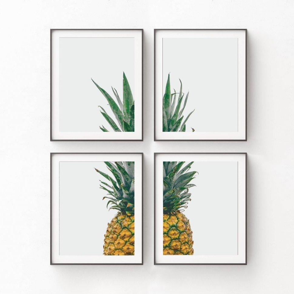 Pineapple Decor Amazon French Chef Kitchen Decor Metal Pineapple Inside Widely Used Pineapple Metal Wall Art (View 10 of 15)