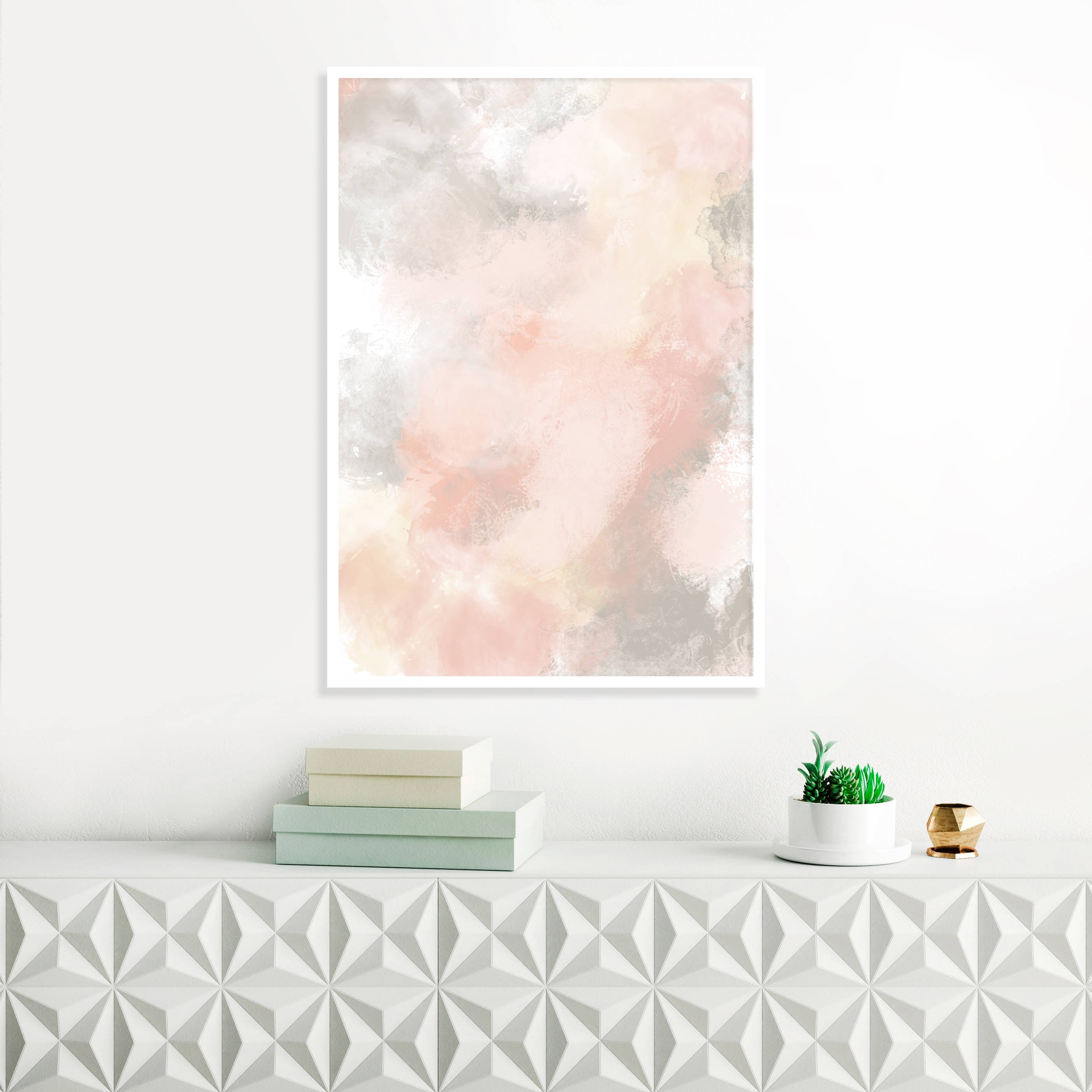 Pink Abstract Wall Art Regarding Most Current Blush Pink And Grey Painting, Pink Abstract Art, Pink Wall Art (View 12 of 15)
