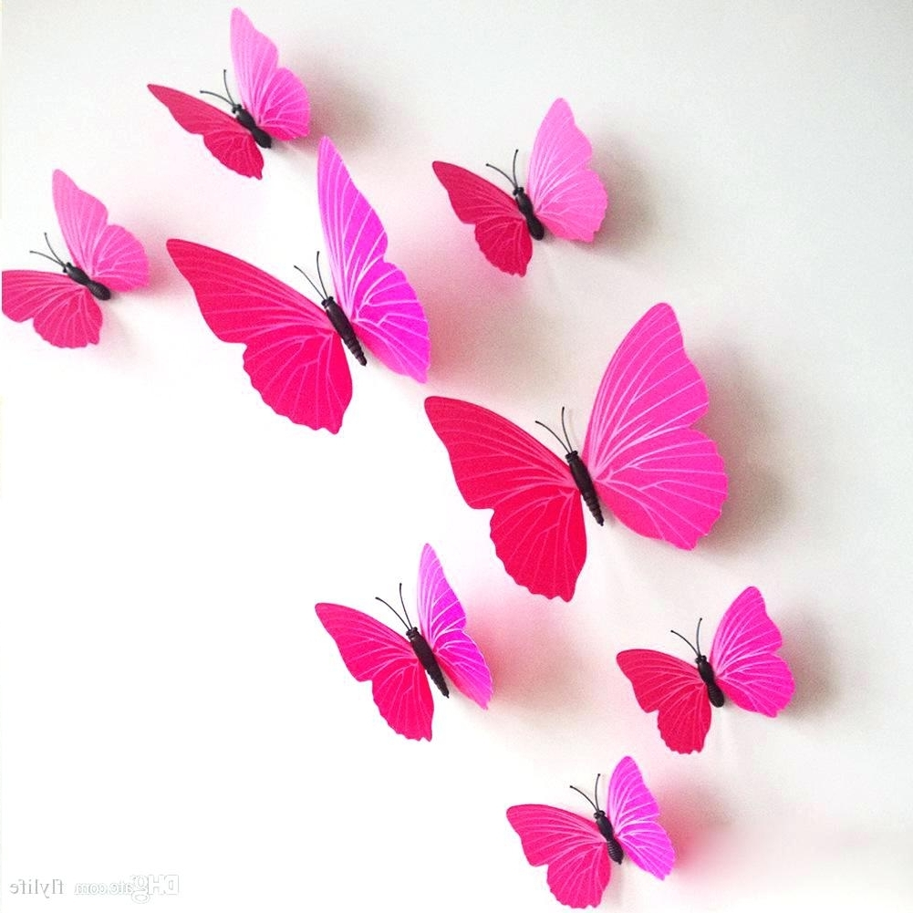 Featured Photo of Pink Butterfly Wall Art