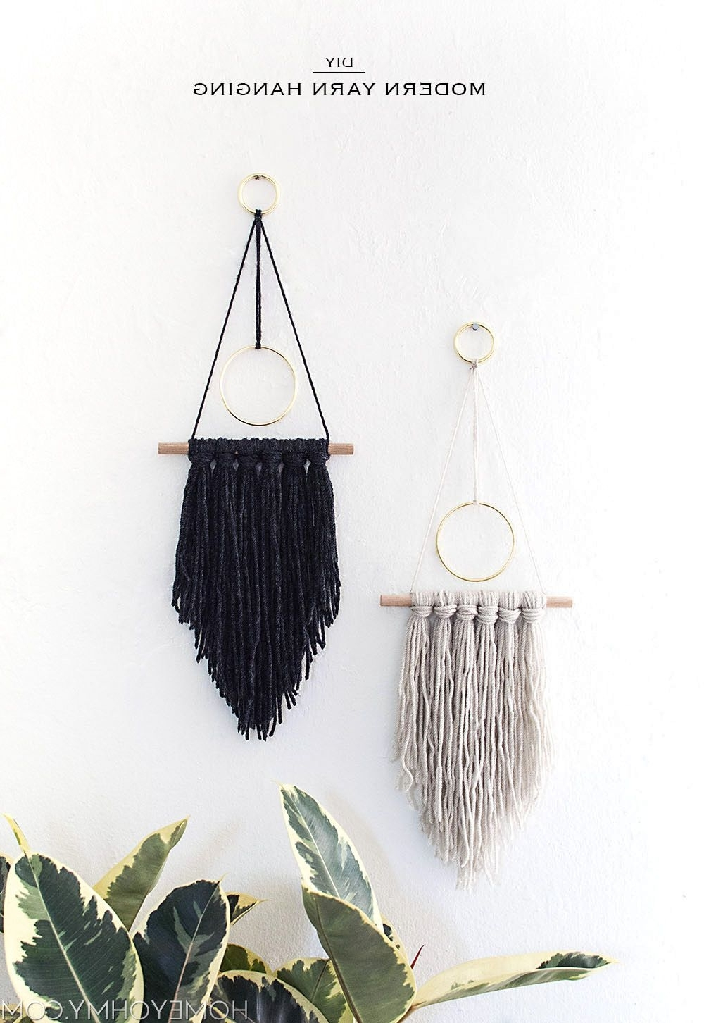 Pinterest Diy Wall Art Regarding Trendy Diy Modern Yarn Hanging – (View 11 of 15)