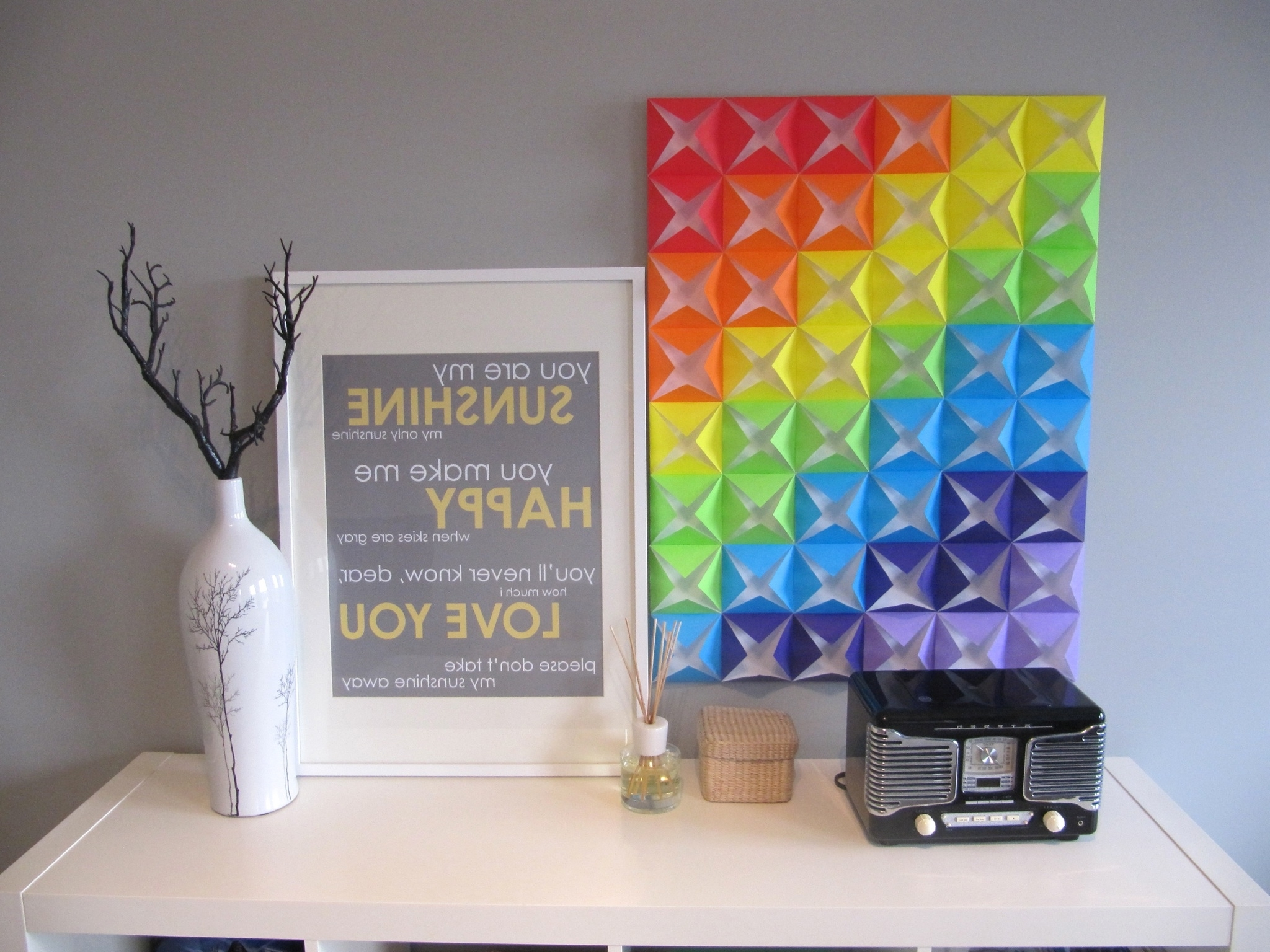 Pinterest Regarding Fashionable Diy Origami Wall Art (View 13 of 15)