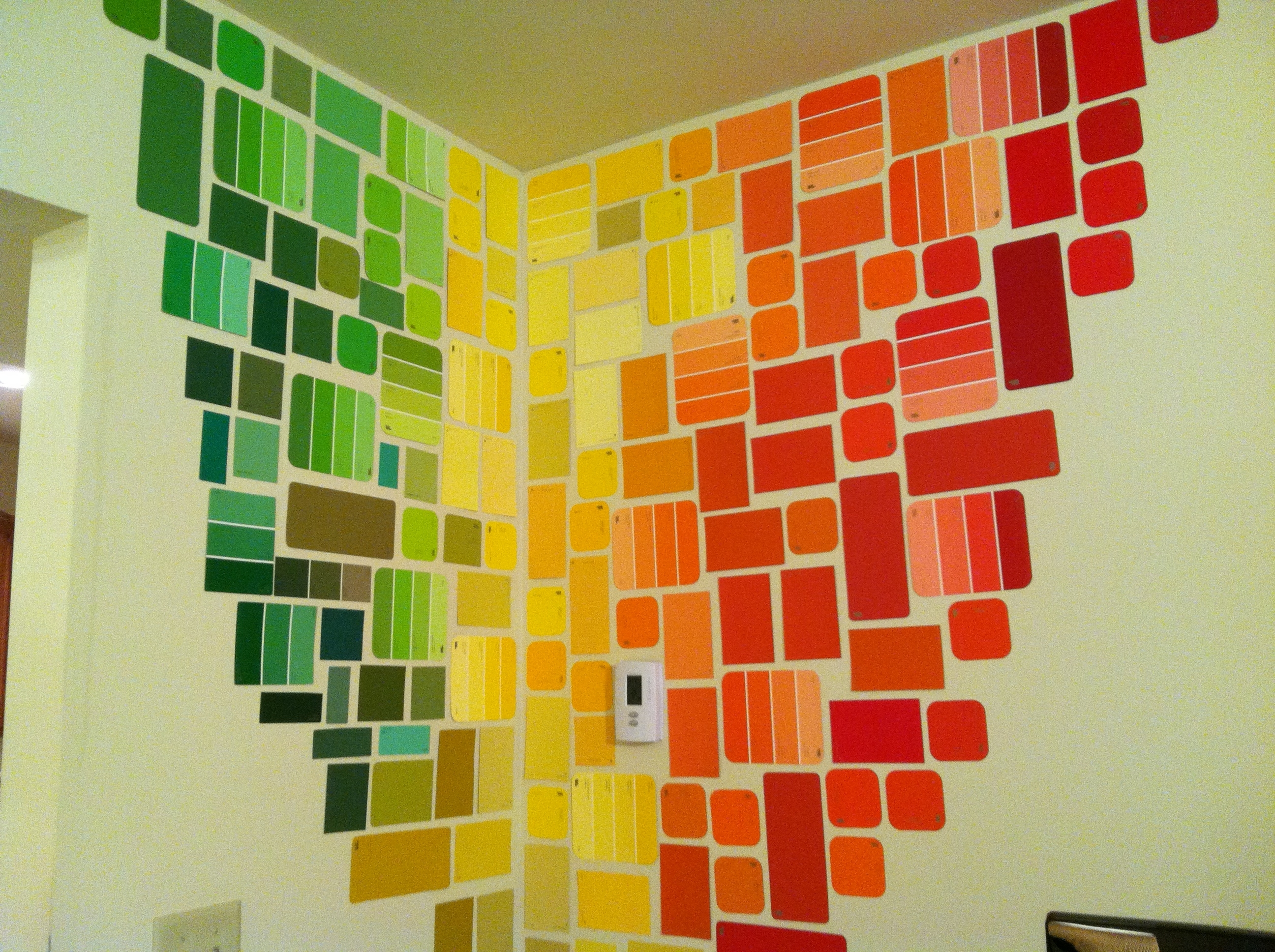 Pinterest With Paint Swatch Wall Art (View 7 of 15)