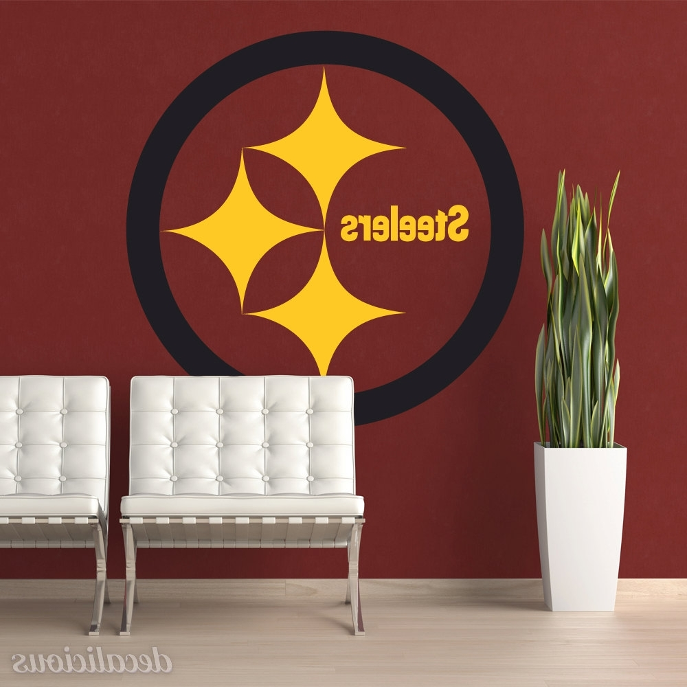 Pittsburgh Steelers Die Cut Vinyl Decal, Steelers Decor For Preferred Steelers Wall Art (View 14 of 15)