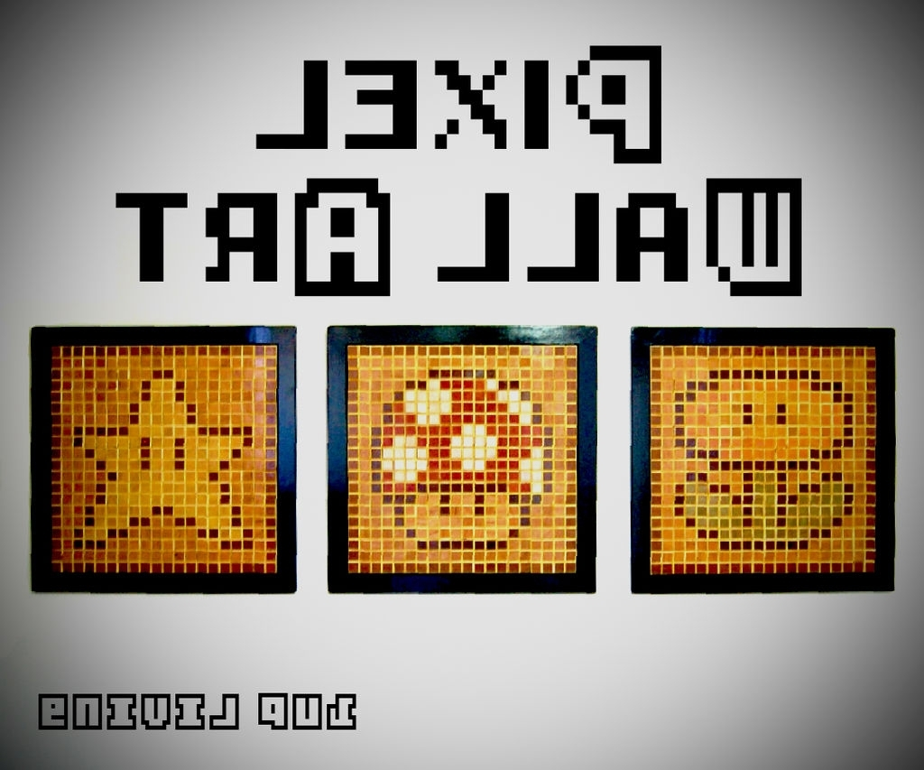 Pixel Wall Art: 8 Steps (with Pictures) For Famous Pixel Mosaic Wall Art (View 7 of 15)