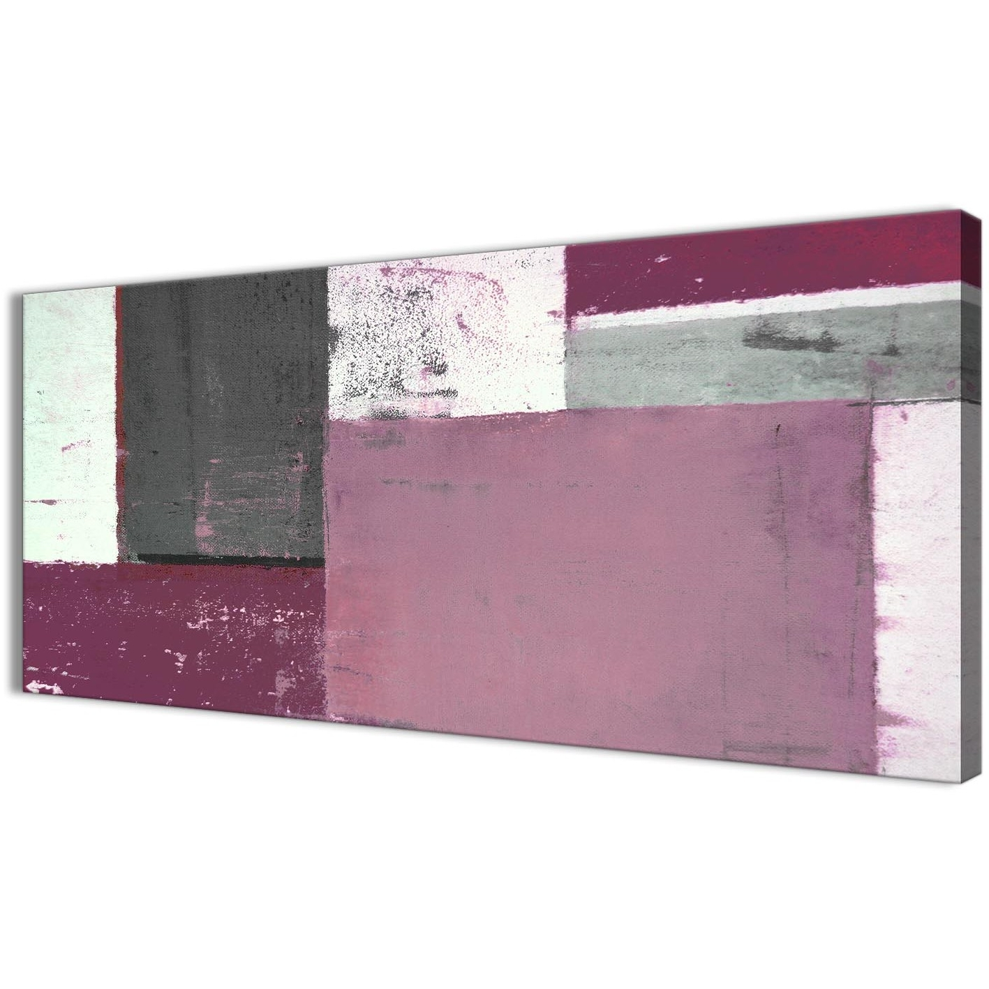 Plum Grey Abstract Painting Canvas Wall Art Picture – Modern 120cm Inside Newest Plum Wall Art (View 12 of 15)