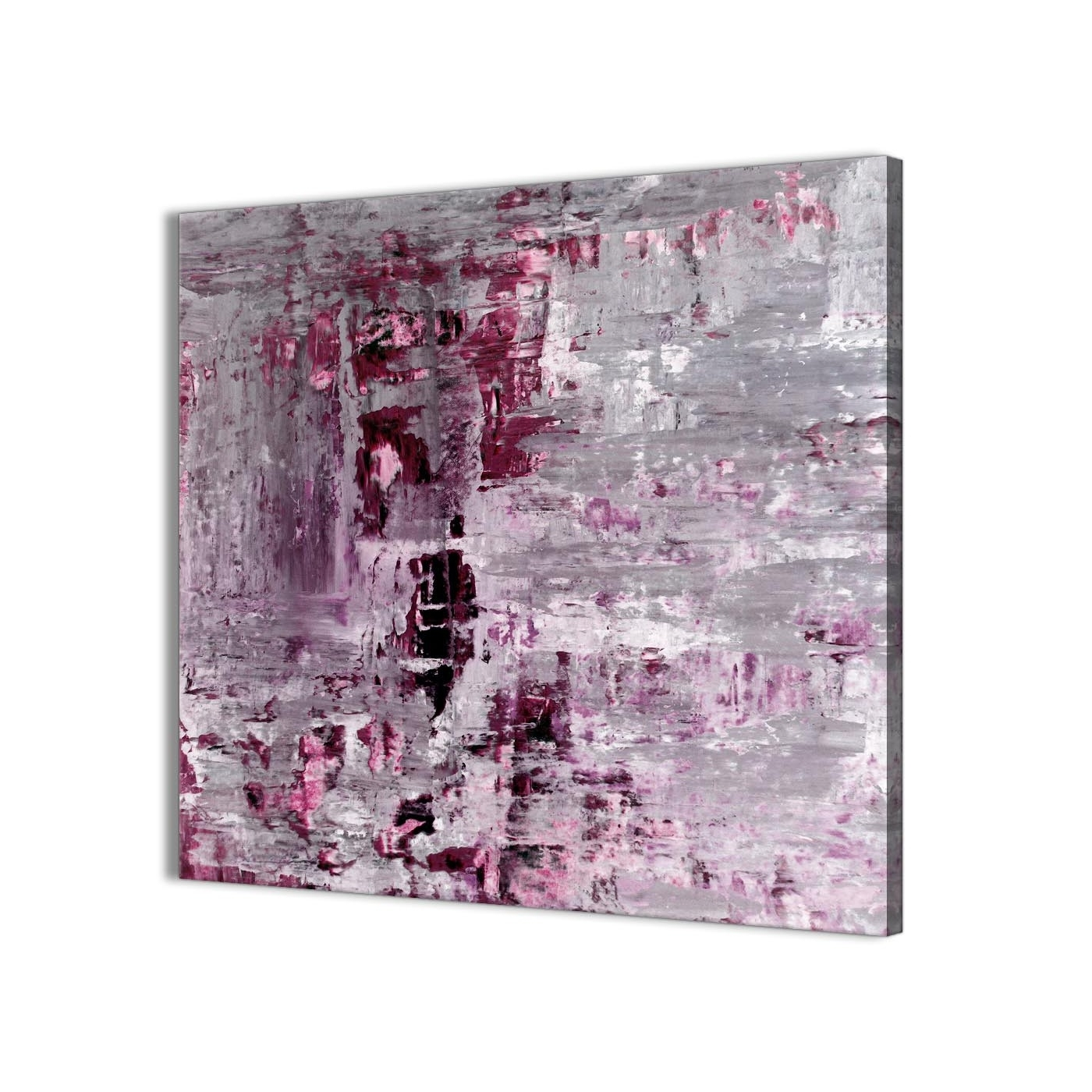 Plum Grey Abstract Painting Wall Art Print Canvas – Modern 49cm Inside Most Recent Plum Wall Art (View 3 of 15)