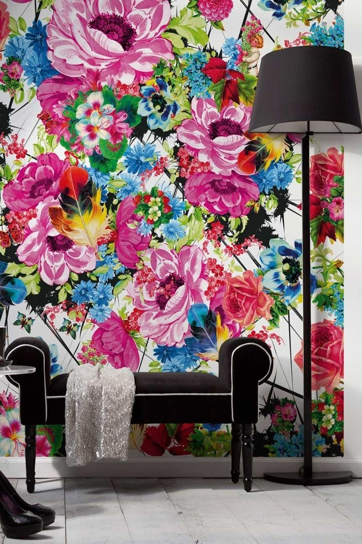 Pop Art Wallpaper For Walls Regarding Well Liked Romantic Pop Wall Muralbrewster Home Fashions On @hautelook (View 5 of 15)