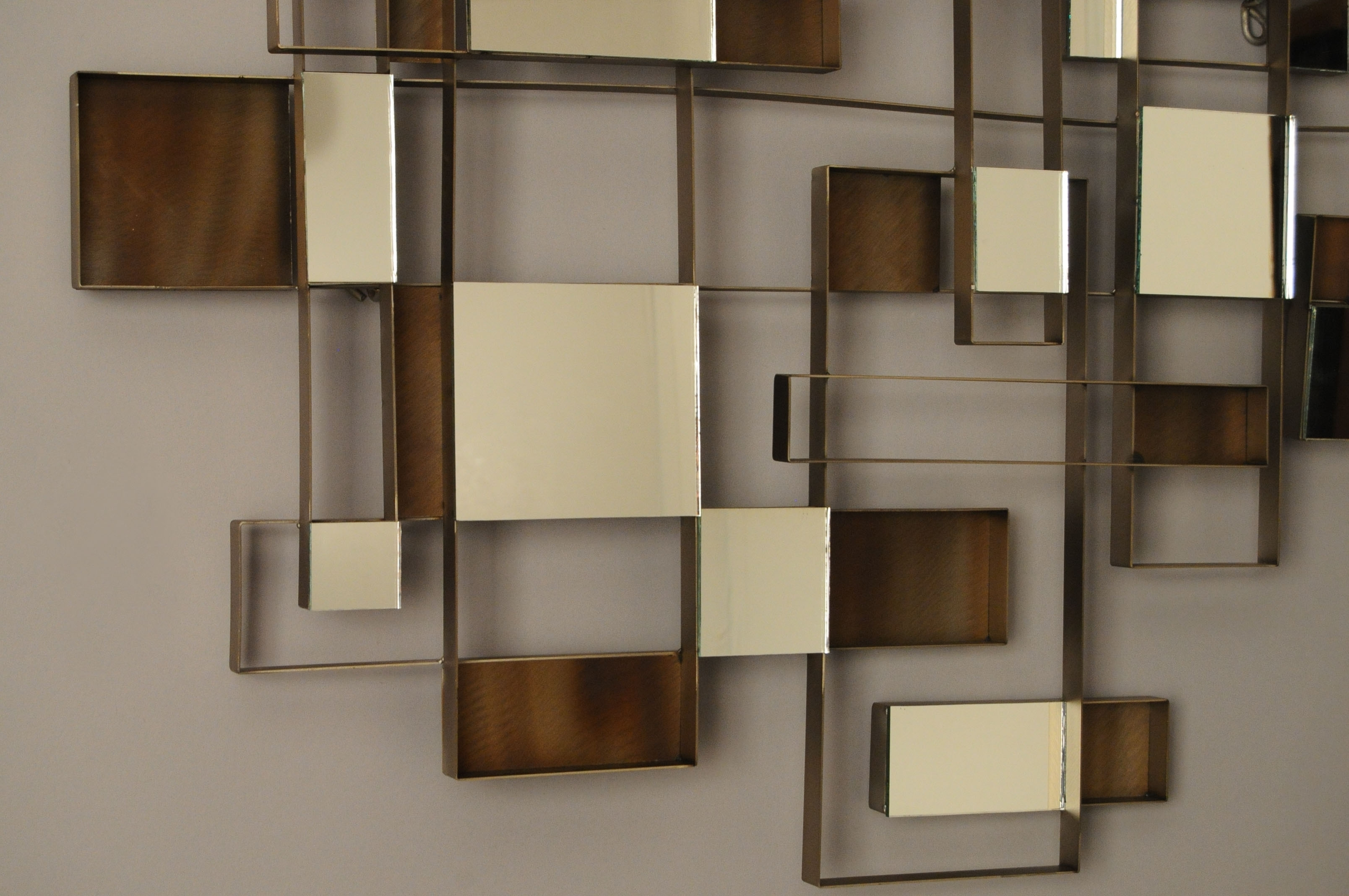 Popular Abstract Mirror Wall Art Inside Wall Art Design Ideas: Angles Nova Metal Mirror Wall Art Unique (View 11 of 15)