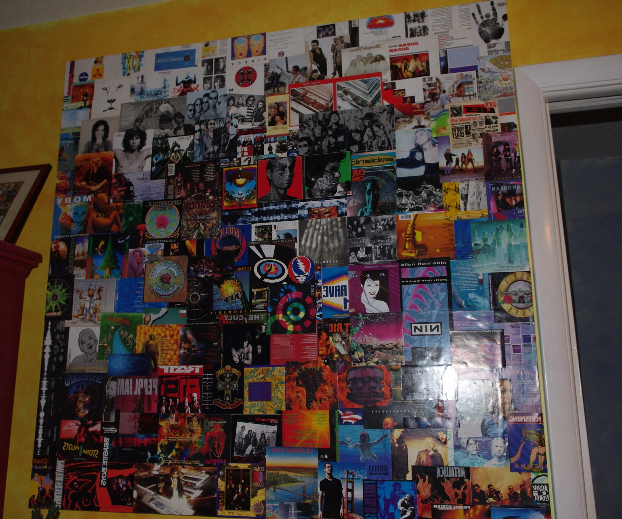 Popular Album Cover Wall Art Pertaining To Repurpose Cd Album Cover Art In Giant Wall Collage (View 14 of 15)