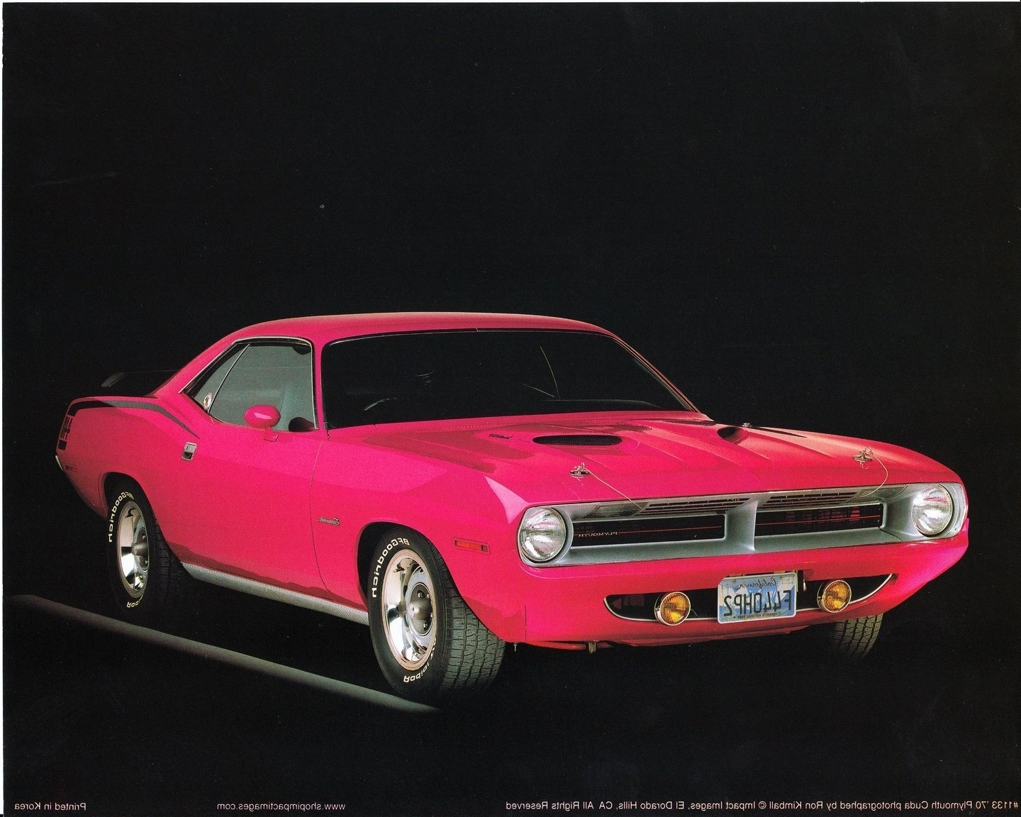 Popular Amazon: 1970 Plymouth Cuda Classic Vintage Car Wall Decor Art With Classic Car Wall Art (View 11 of 15)