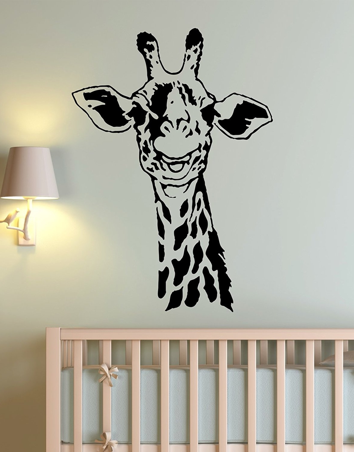 Popular Animal Wall Art Inside Amazon: African Safari Giraffe Wall Decal Sticker (View 10 of 15)