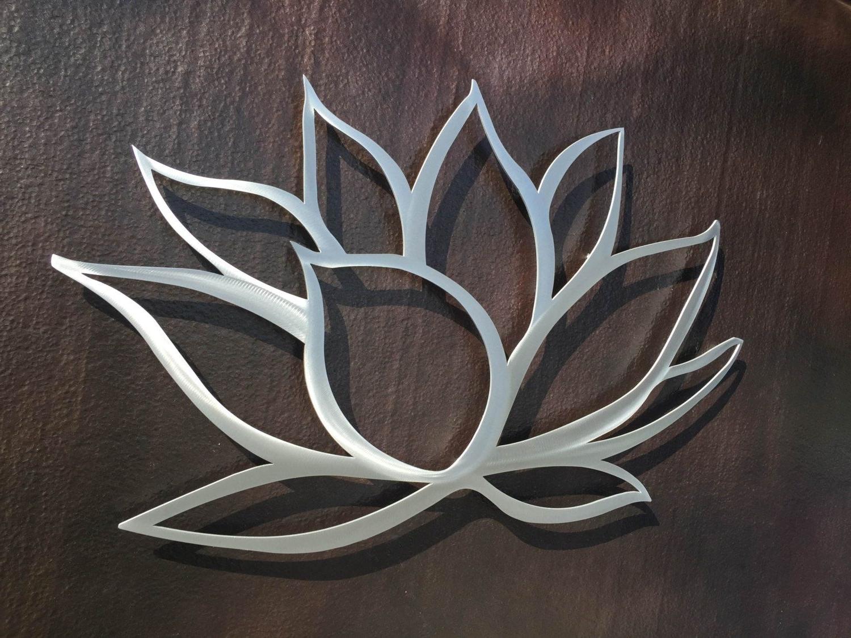 Popular Big Metal Wall Art Throughout Lotus Flower Metal Wall Art – Lotus Metal Art – Home Decor In (View 11 of 15)