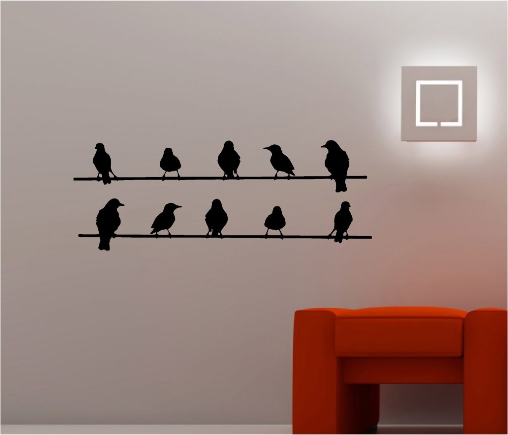 Popular Birds On A Wire Wall Art With Vibrant Inspiration Wall Art Birds Plus Astonishing On A Wire  (View 13 of 15)