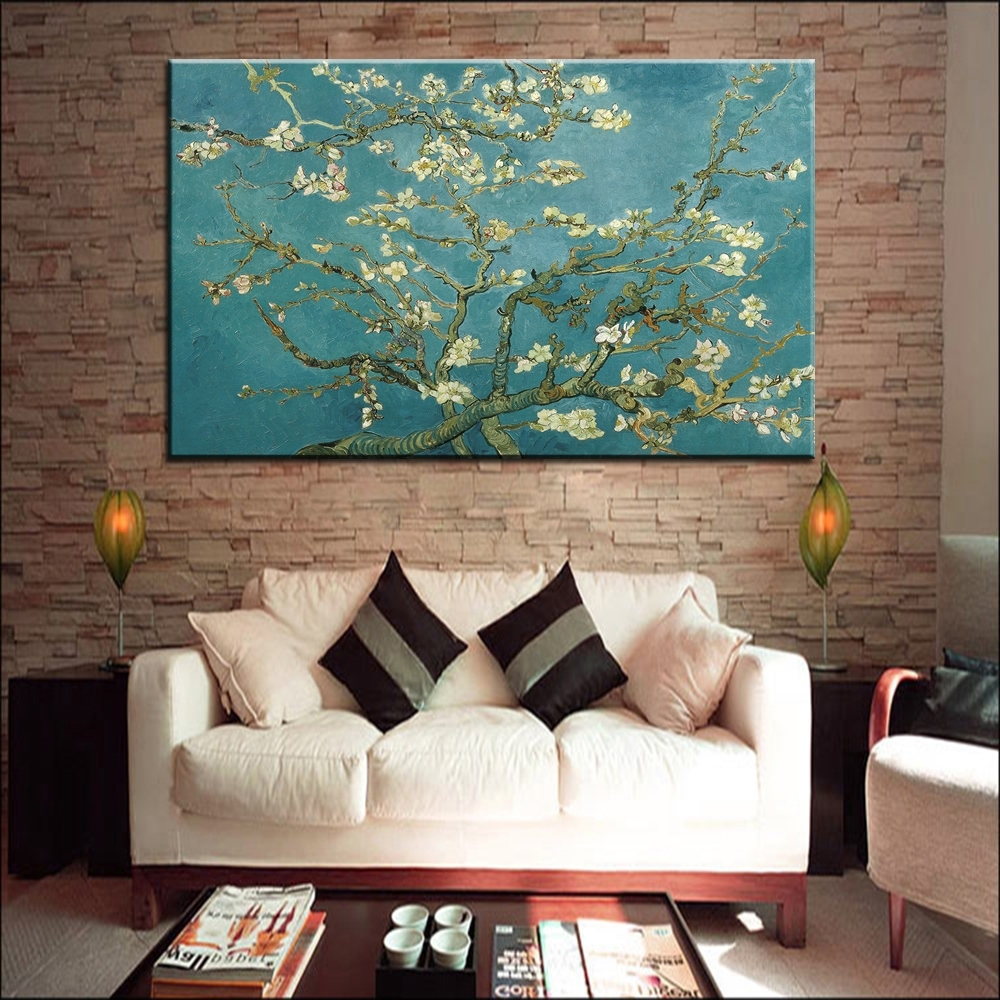 Popular Blossoming Almond Tree Oil Painting Of Vincent Van Gogh In Vincent Van Gogh Wall Art (View 2 of 15)