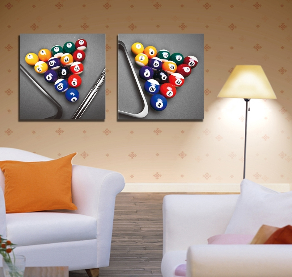 Popular Buy Snooker Painting And Get Free Shipping On Aliexpress Regarding Billiard Wall Art (View 12 of 15)