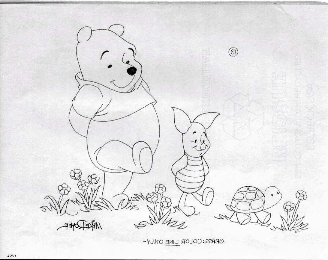 Popular Classic Pooh Art Inside Royer, Mike – Disney: Winnie The Pooh & Piglet With Turtle, In (View 13 of 15)