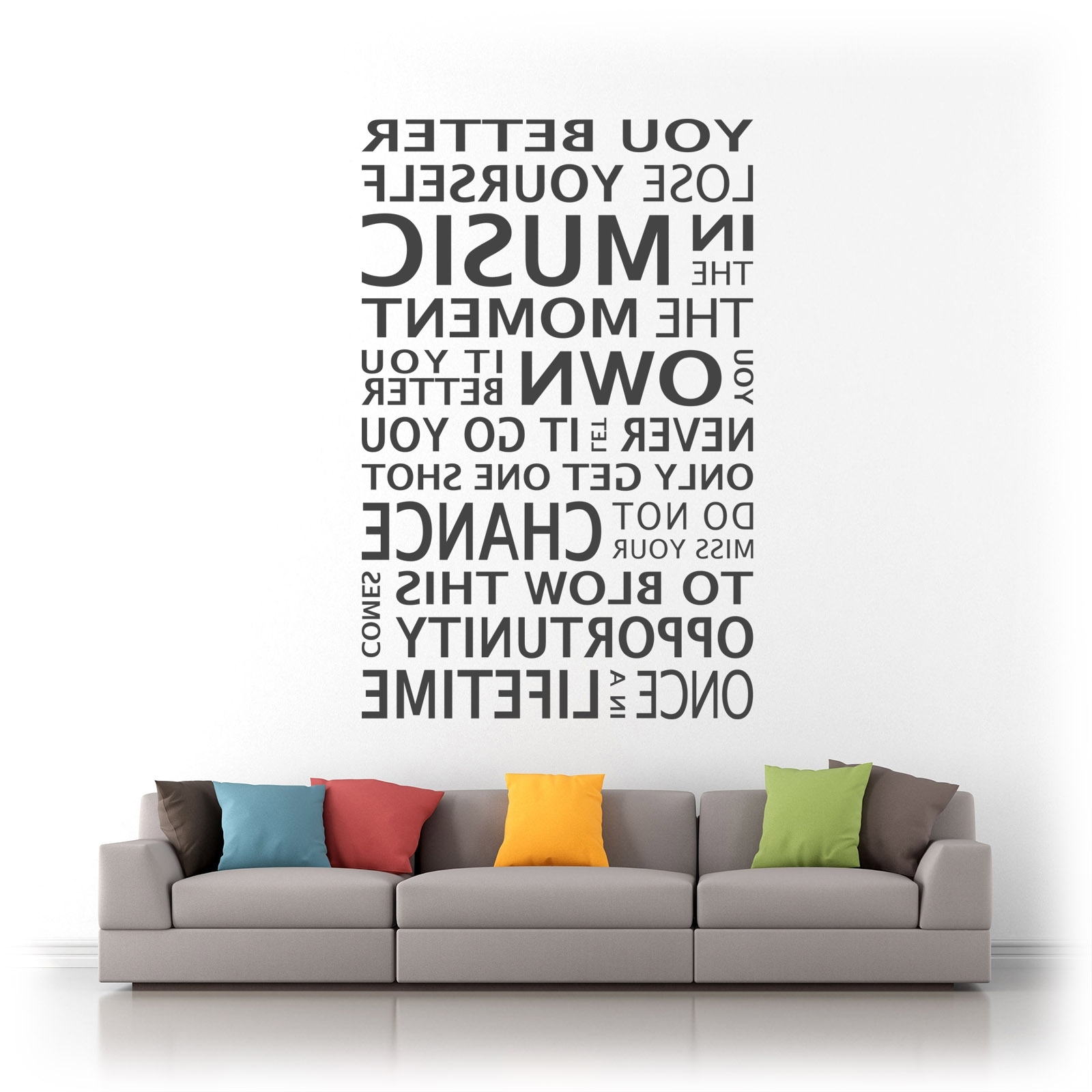 Popular Eminem Wall Art For Eminem You Better Lose Yourself Song Lyrics Quote Vinyl Wall Art (View 11 of 15)