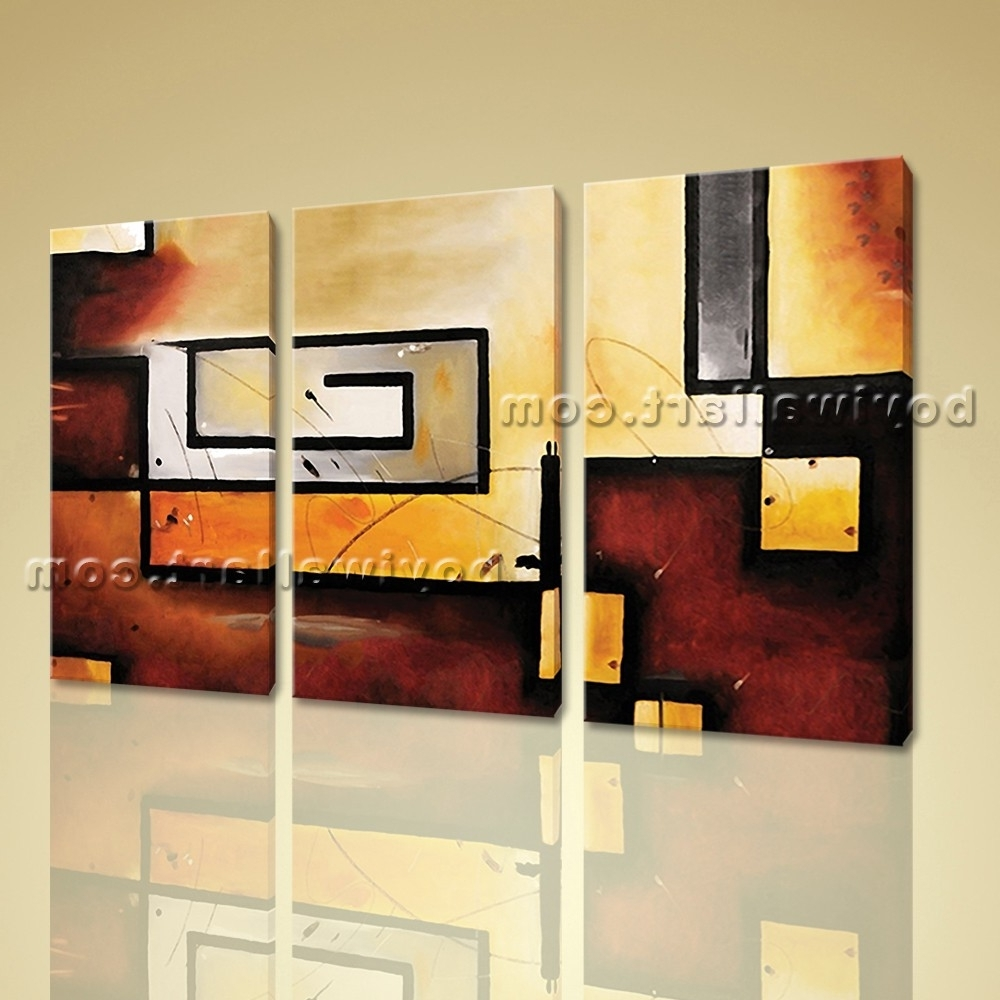 View Photos of 3 Piece Abstract Wall Art (Showing 4 of 15 Photos)