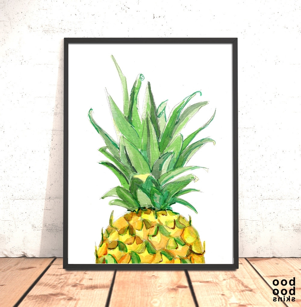 Popular Gingerbread Kitchen Decor Pineapple Decor Australia Pineapple Throughout Pineapple Metal Wall Art (View 13 of 15)