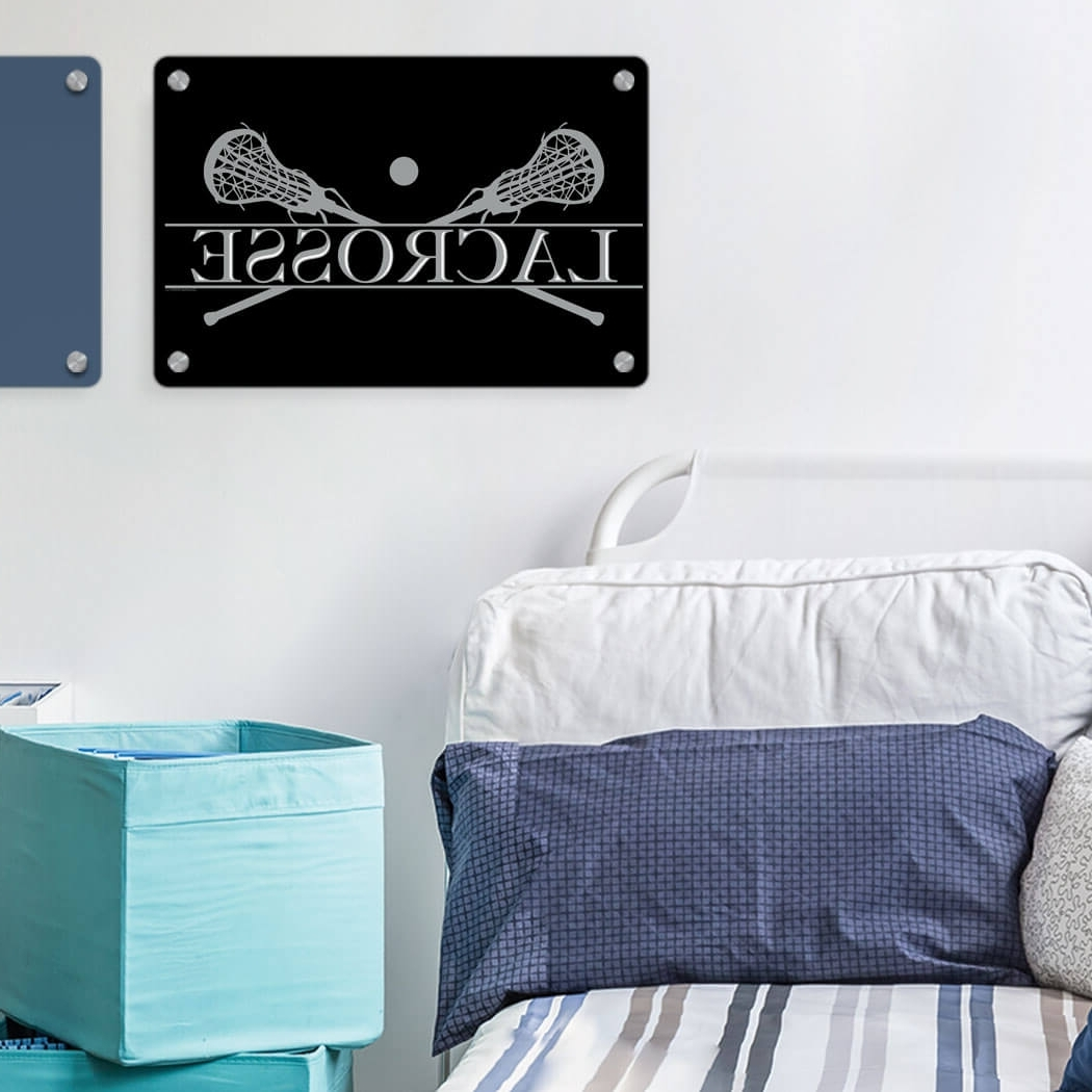 Popular Girls Lacrosse Metal Wall Art Panel – Crest (View 13 of 15)