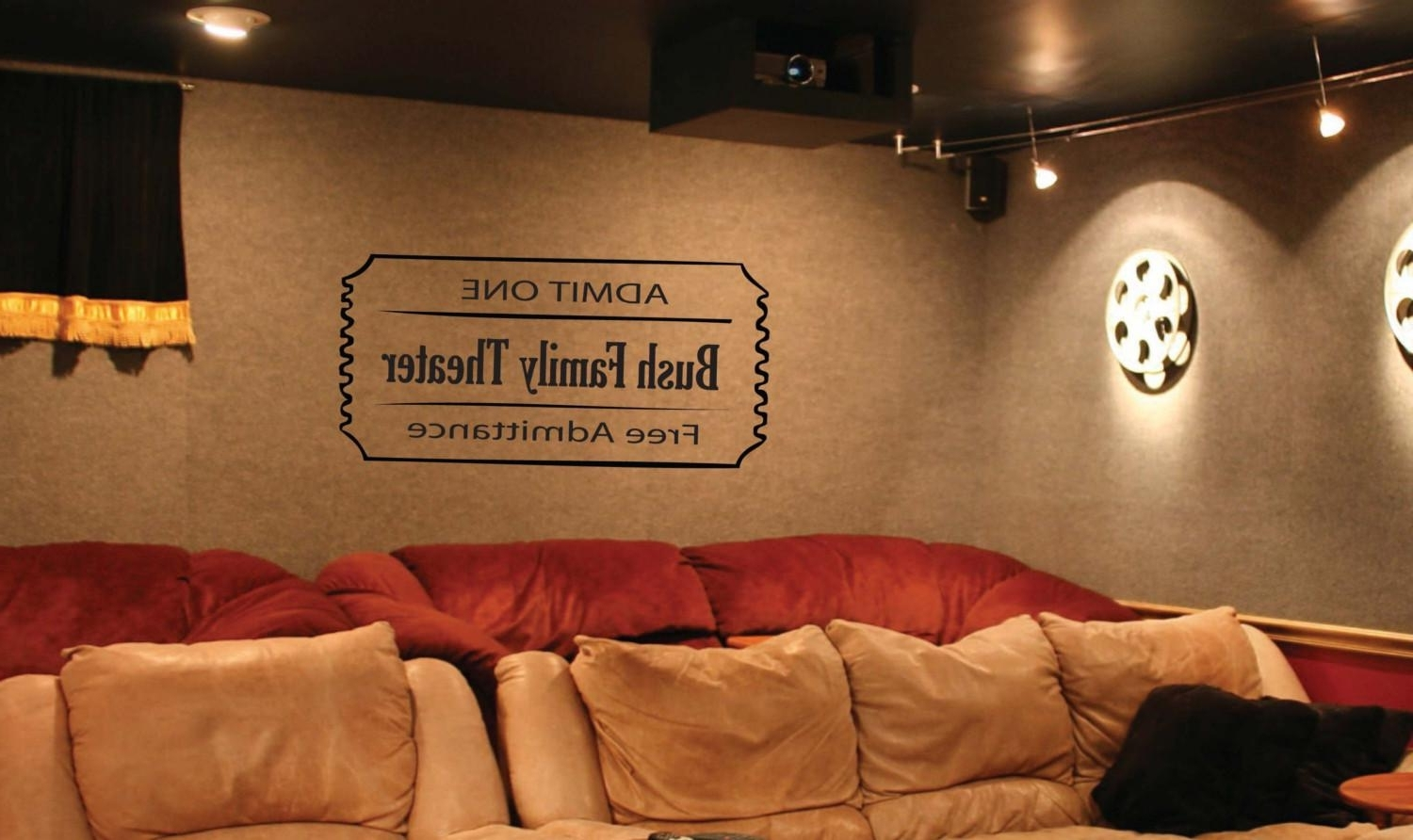 Popular Homely Ideas Movie Theater Wall Decor Or Home Plaques Signs With Home Theater Wall Art (View 7 of 15)