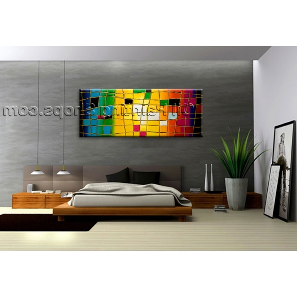 Popular Huge Wall Art For Extra Large Wall Art Hand Painted Abstract Oil Painting On Canvas (View 13 of 15)