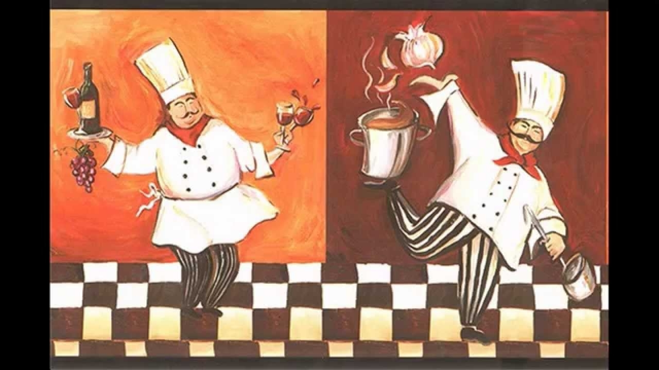 Popular Italian Chef Wall Art With Regard To Creative Fat Chef Theme Kitchen Decorations – Youtube (View 2 of 15)