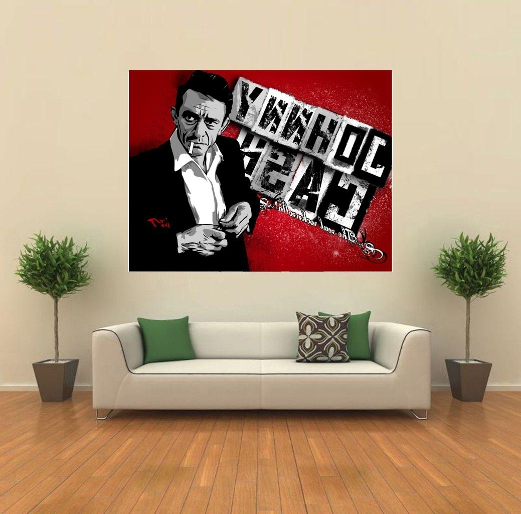 Popular Johnny Cash The Real Rocknrolla Fanart Giant Wall Print Poster With Regard To Johnny Cash Wall Art (View 12 of 15)