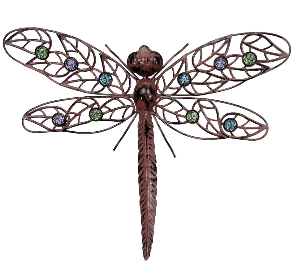 Popular Metal Large Outdoor Wall Art Intended For Wall Art Designs: Dragonfly Wall Art Metal Wal Art Hanging (View 7 of 15)