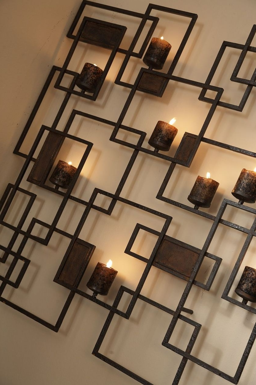 Popular Metal Wall Art With Candles For Metal Wall Art Candle Holderla Z Boy Furniture Galleries Of (View 14 of 15)