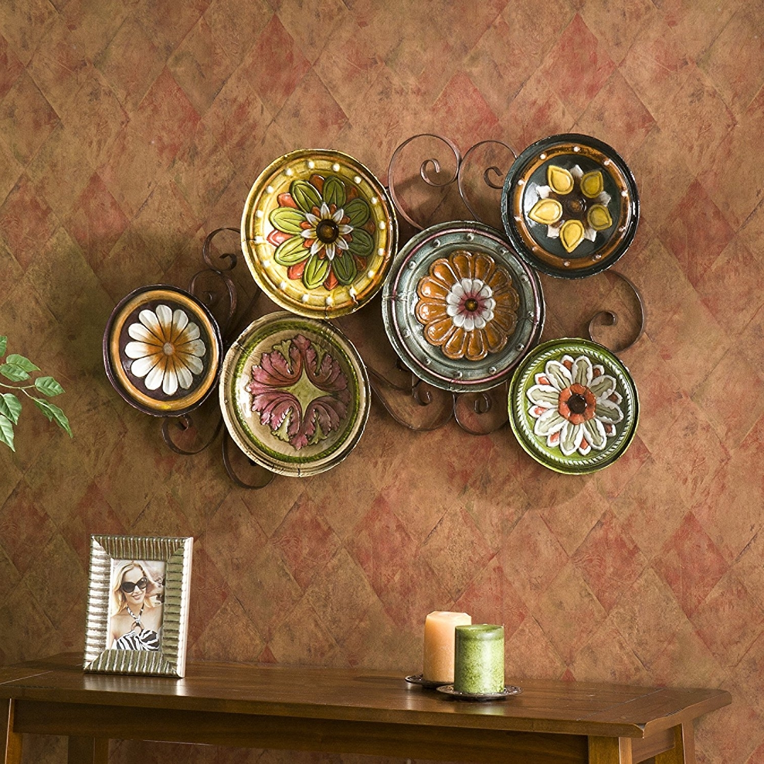 Popular Midnight Italian Plates Wall Art Throughout Amazon: Sei Scattered Italian Plates Wall Art: Wall Sculptures (View 12 of 15)