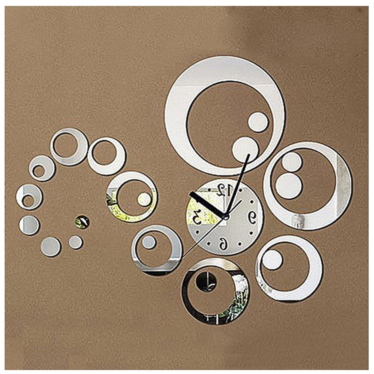Popular Mirror Circles Wall Art In Circle Mirror Removable Decal Vinyl Art Wall Sticker Home Decor (View 13 of 15)