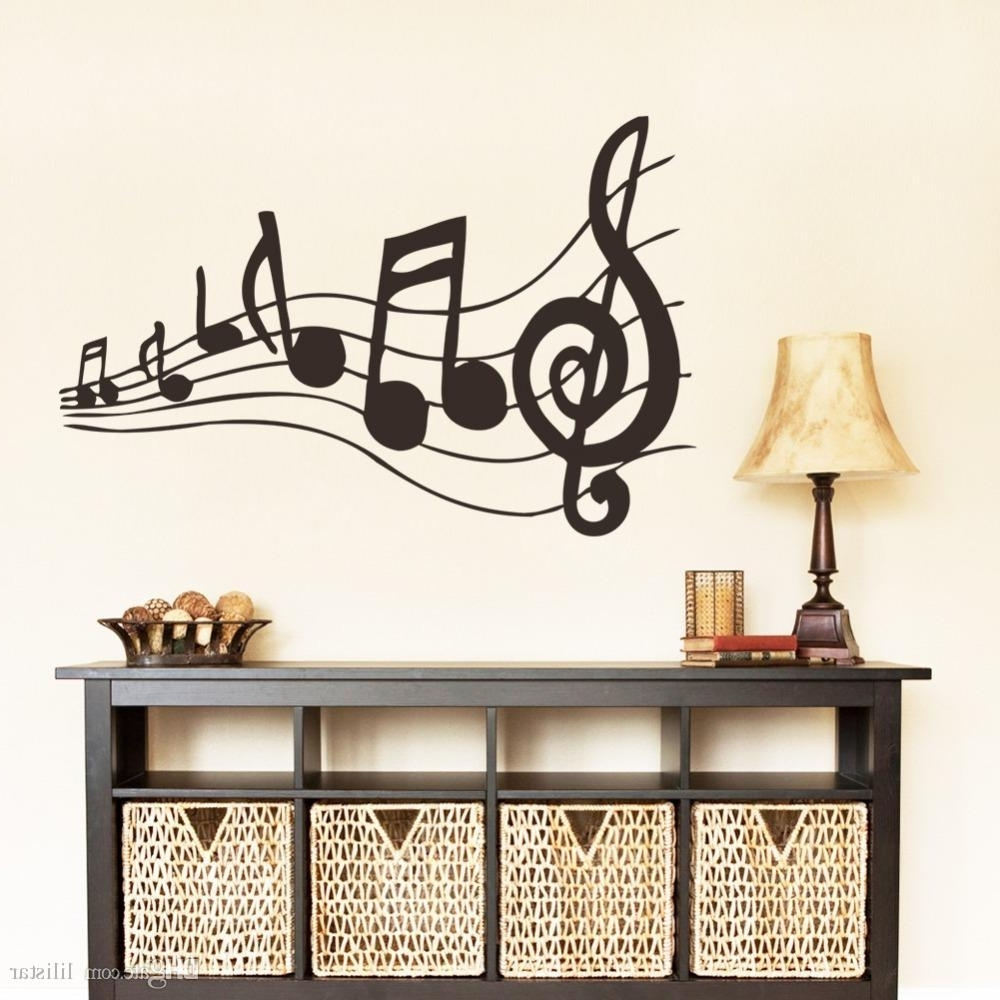 Popular New Design Creative Music Musical Notes Notation Vinyl Wall Decal Within Music Notes Wall Art Decals (View 2 of 15)