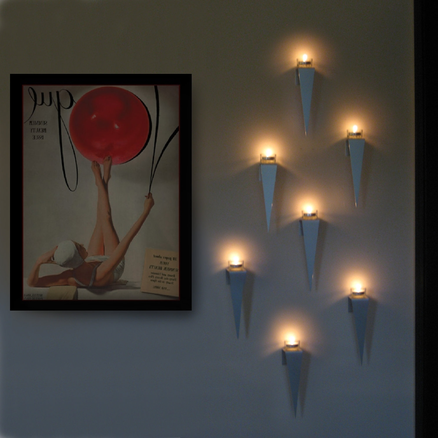 Popular New Tea Light Wall Art 84 For Your Decorative Emergency Wall Within Wall Art With Lights (View 7 of 15)