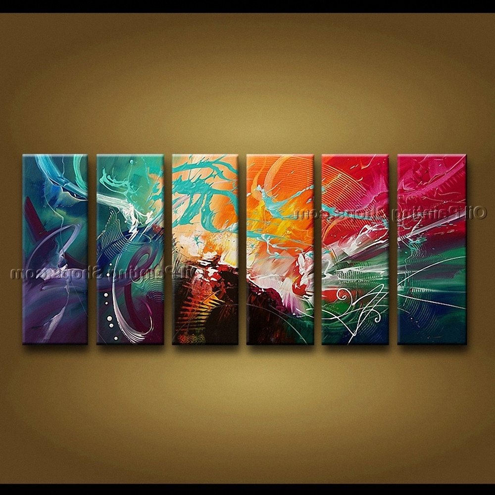 Popular Painted Huge Modern Abstract Painting Wall Art Decoration Ideas Regarding Modern Abstract Huge Oil Painting Wall Art (View 13 of 15)