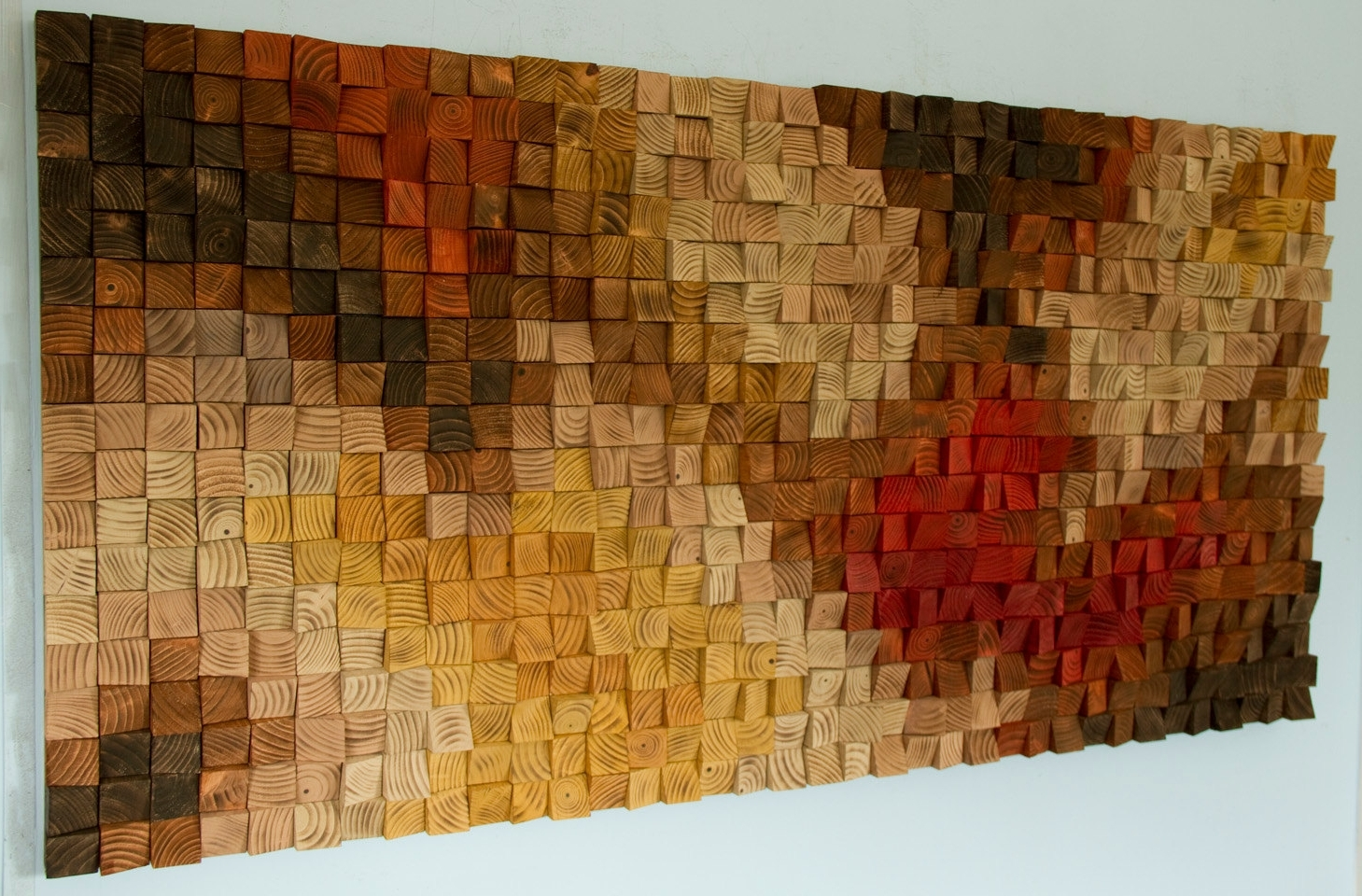 Popular Sculpture Abstract Wall Art Regarding Large Rustic Wood Wall Art, Wood Wall Sculpture, Abstract Painting (View 6 of 15)