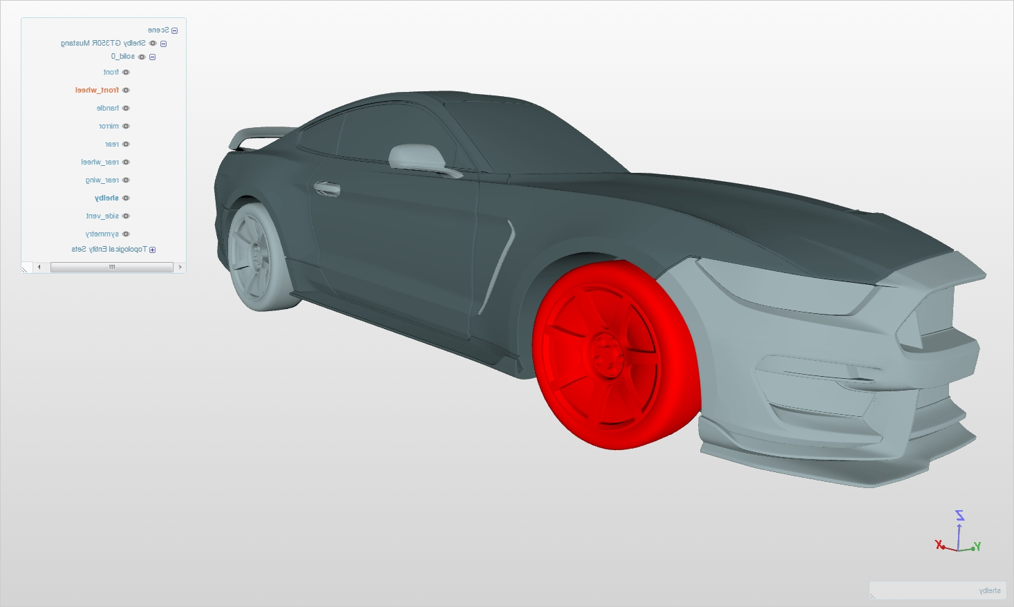 Popular Shelby Gt350R Mustang Cfd Simulations – The Answer Is 27 Regarding Ford Mustang Metal Wall Art (View 11 of 15)