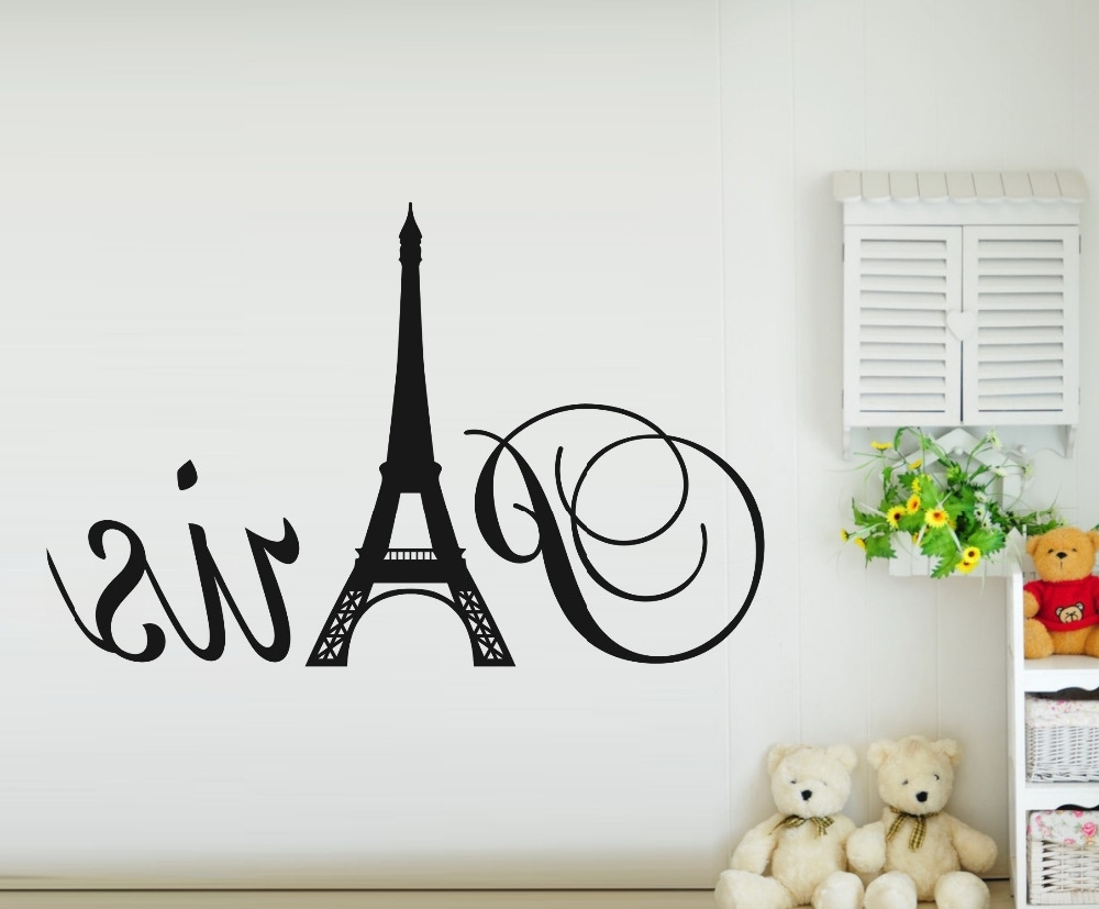 Popular Shop Popular Paris Eiffel Tower Home Decoration From China Inside Paris Vinyl Wall Art (View 1 of 15)