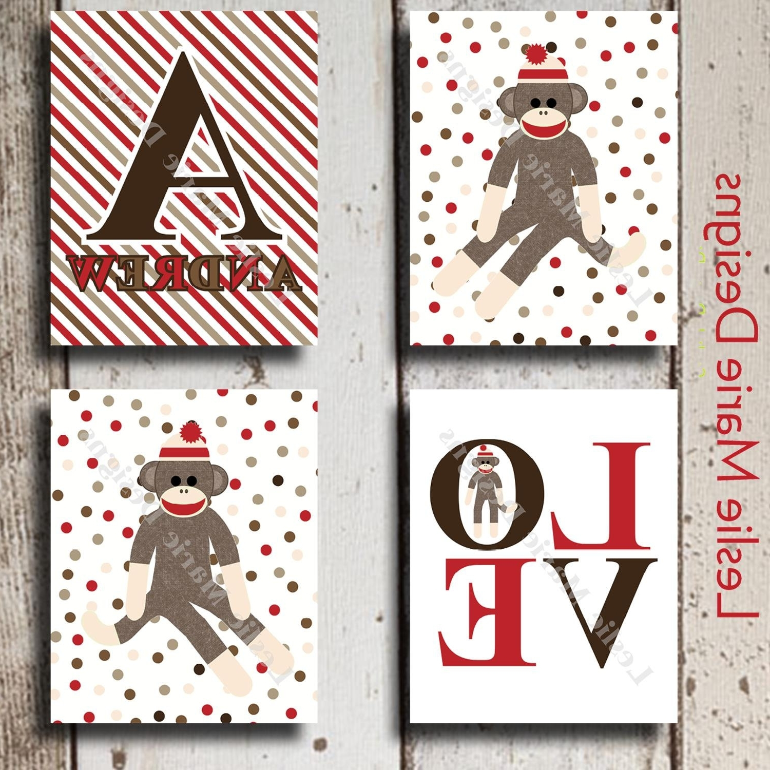 Popular Sock Monkey Nursery Sock Monkey Sock Monkey Wall Art With Sock Monkey Wall Art (View 6 of 15)