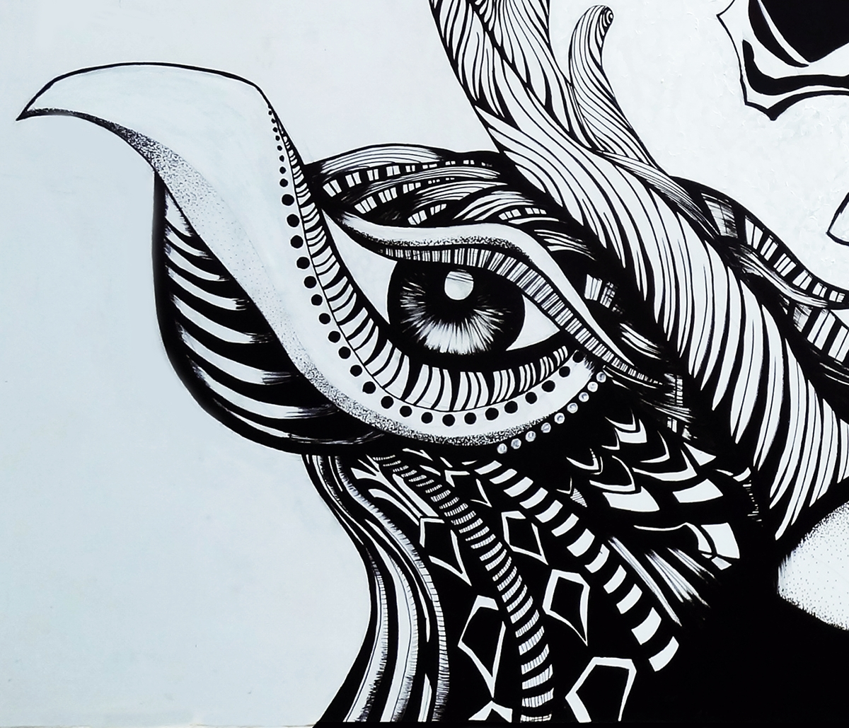 Popular Tattoo Wall Art Throughout Aliens Tattoo: Wall Art On Pantone Canvas Gallery (View 6 of 15)