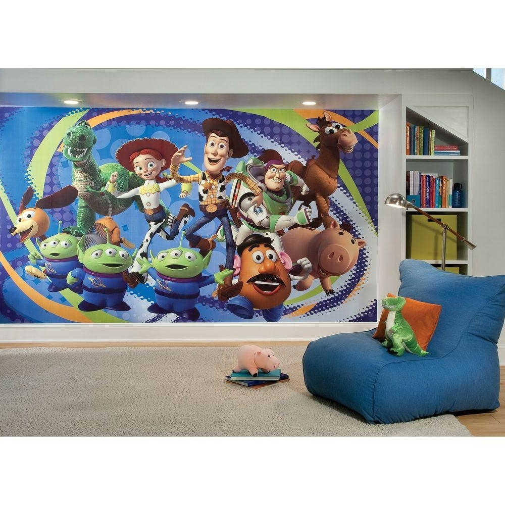 Popular Toy Story Wall Stickers Pertaining To Toy Story 3 Chair Rail Prepasted Mural 6 Ft. X 10.5 Ft (View 7 of 15)