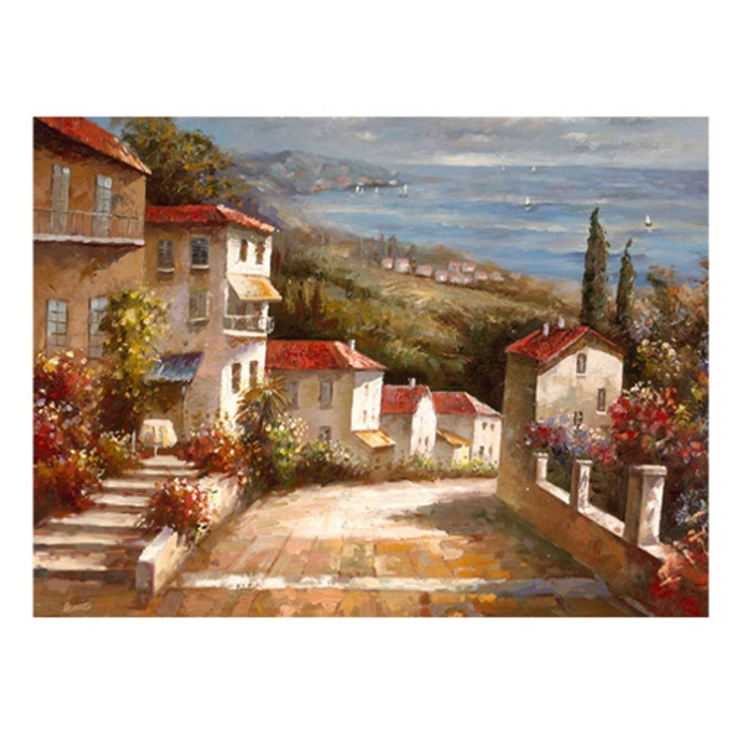 "Popular Tuscan Italian Canvas Wall Art Pertaining To Amazon: Trademark Art ""home In Tuscany"" Canvas Artjoval (View 6 of 15)"