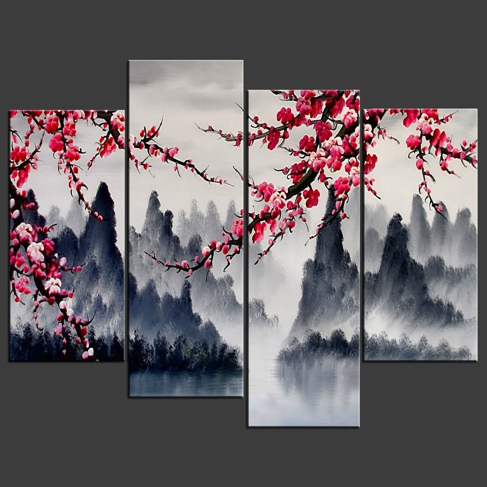 Popular Wall Art Design Ideas: Simple Chinese Wall Art Combination Multi For Asian Wall Art Panels (View 12 of 15)