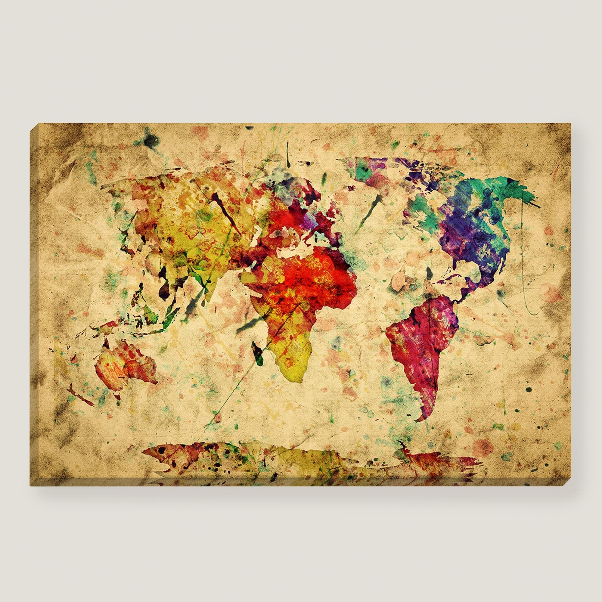 Popular Wall Art Design: Vintage Map Wall Art Amazing Design Collection Within Vintage Style Wall Art (View 4 of 15)