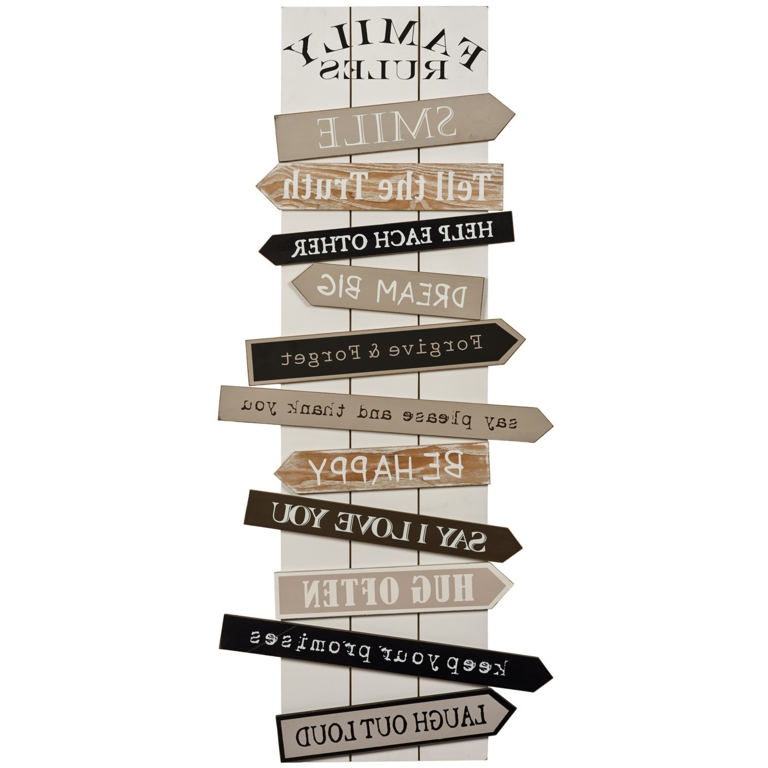Popular Wall Art Designs: Family Rules Wall Art Vintage Wall Art Wooden With Wood Word Wall Art (View 12 of 15)