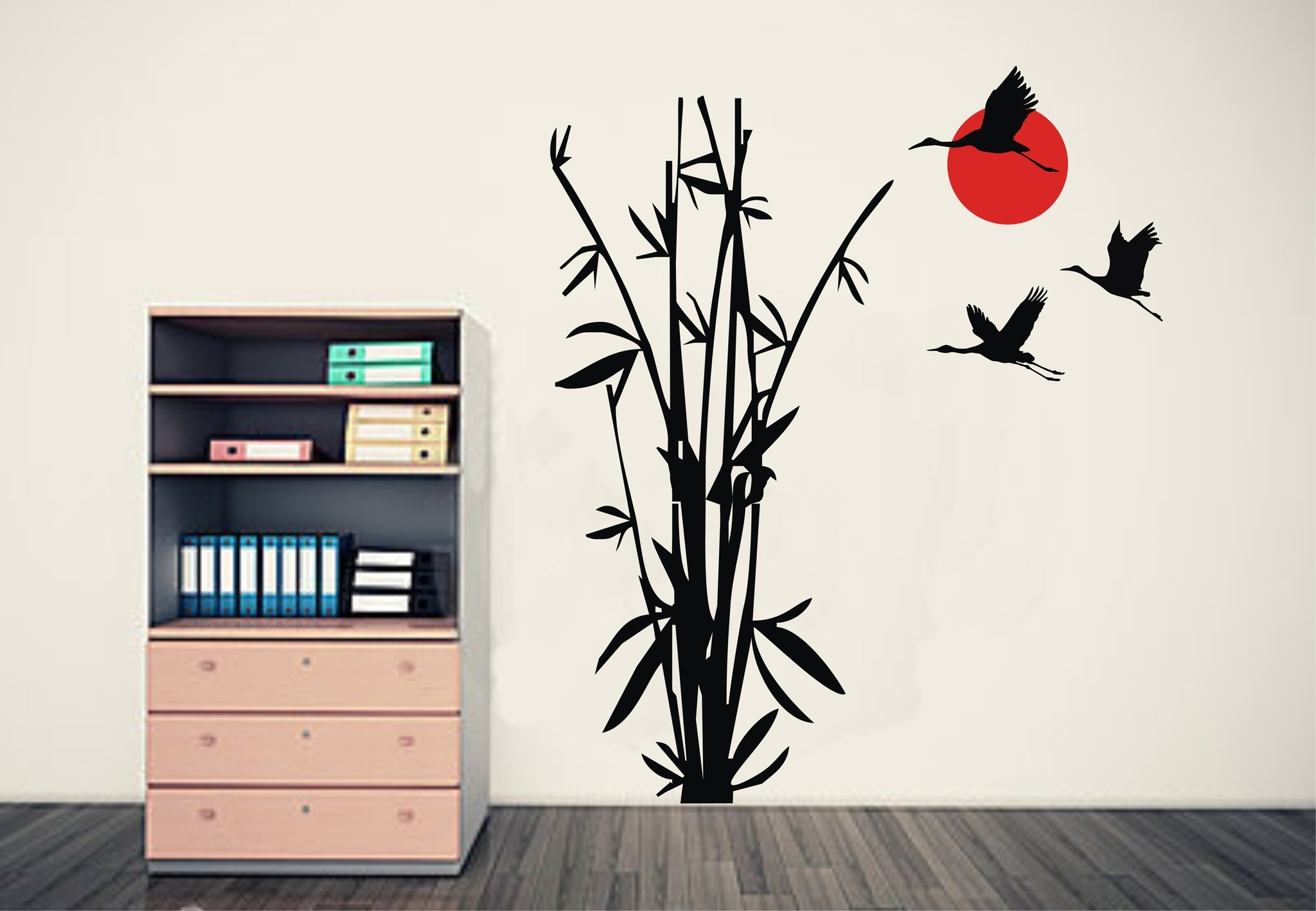 Popular Wall Art Designs Intended For Wall Art Designs: Bamboo Wall Art Bamboo And Flying Cranes Bamboo (View 4 of 15)