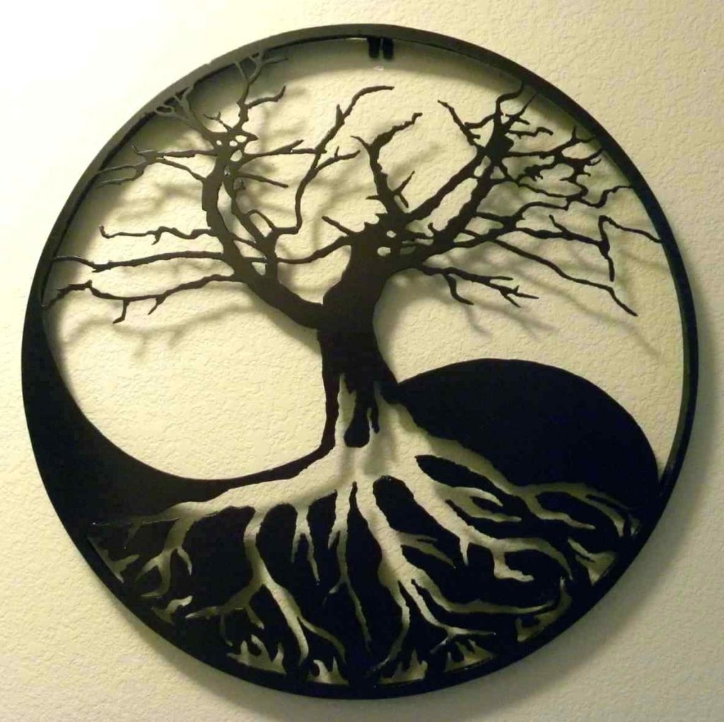 Showing Photos of Metal Oak Tree Wall Art (View 10 of 15 Photos)