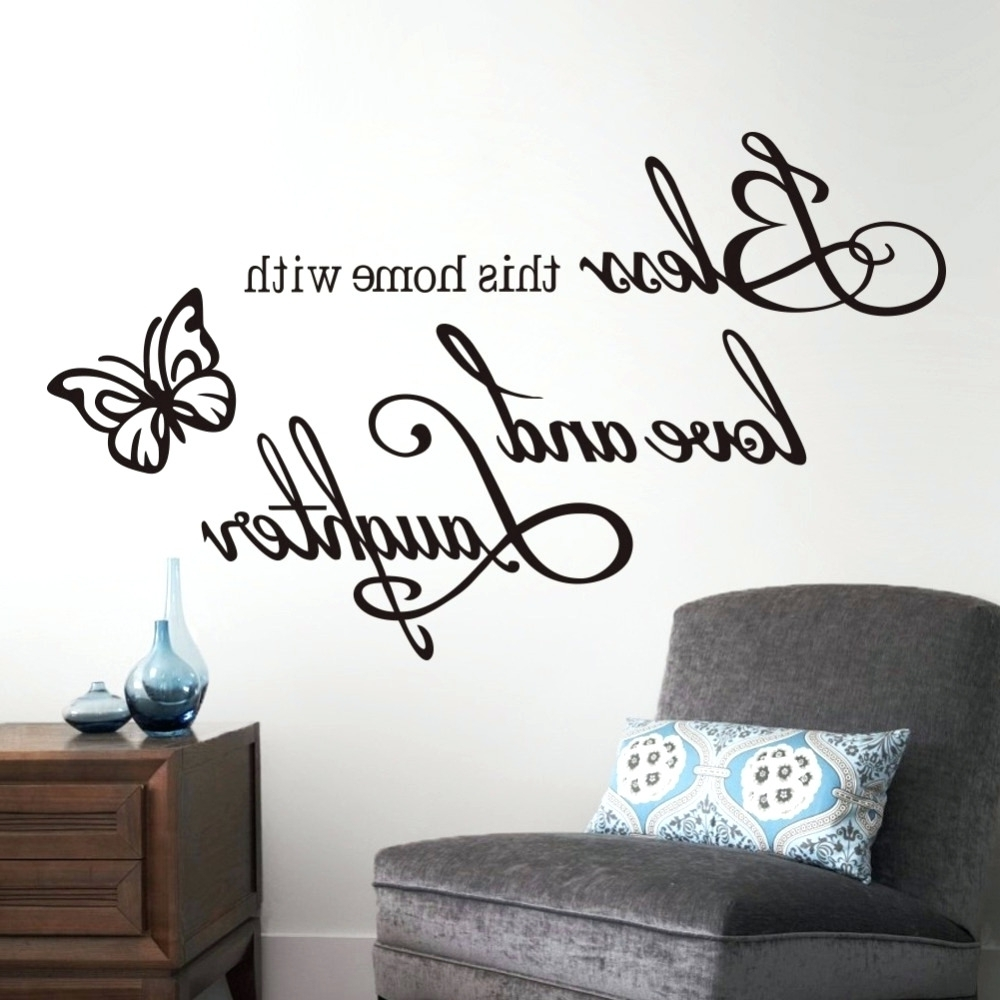 Popular Wall Arts ~ Wall Art Decals Quotes For Kitchen Wall Word Art Pertaining To Christian Word Art For Walls (View 6 of 15)